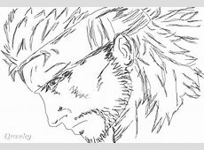 Solid Snake ← a blackwhite Speedpaint drawing by