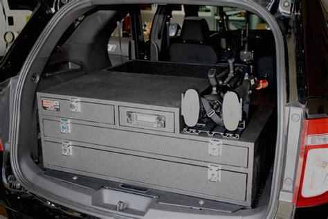 Ford Explorer police interceptor, storage solutions