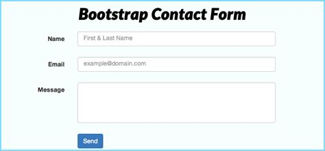 how to create a working bootstrap contact form with php