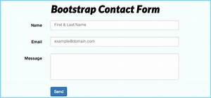 How to create a working bootstrap contact form with php for How to create template in php
