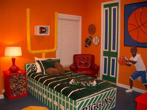 Best Sports Themed Rooms Images On Pinterest