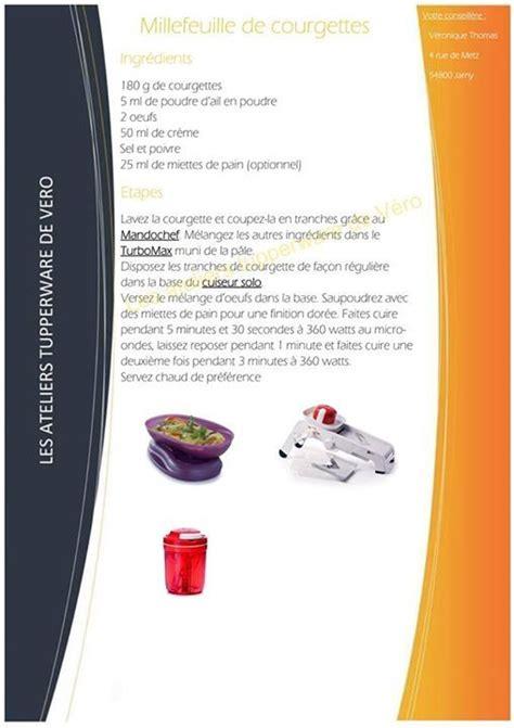 cuisine recette millefeuille de courgettes tupperware recettes plats