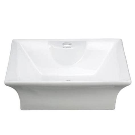 elanti vessel above counter curved rectangle bathroom sink