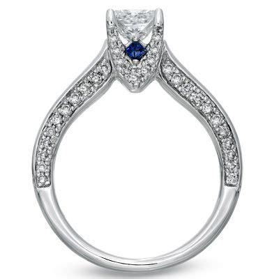 vera wang love princess cut diamond sapphire engagement ring engagement rings engagement