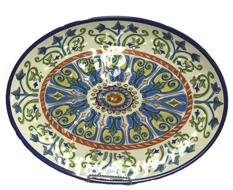 Tuscany Oval Platter  Mediterranean  Serving Dishes And