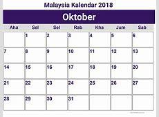 Oktober Malaysia Kalendar 2018 printcalendarxyz