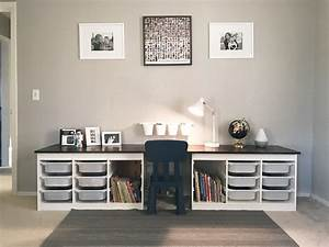 Children's Desk IKEA Trofast hack Liam's Room Pinterest Ikea trofast, Desks and Playrooms