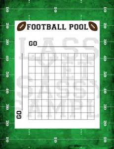 Football Pool Squares Template