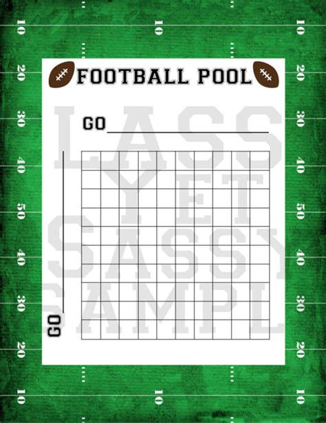 football pool templates word excel