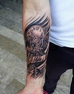 Tattoo Unterarm Schrift : tattoo clocktattoo bio my works pinterest ~ Frokenaadalensverden.com Haus und Dekorationen