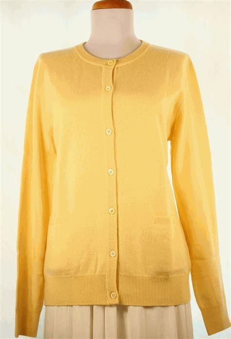 yellow cardigan sweater 39 s cardigan neck sweater yellow
