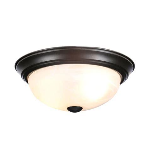 bronze flush ceiling light designers fountain reedley collection 2 light flush