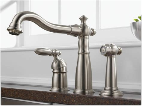 kitchen faucet with separate handle delta 155 ss dst single handle widespread