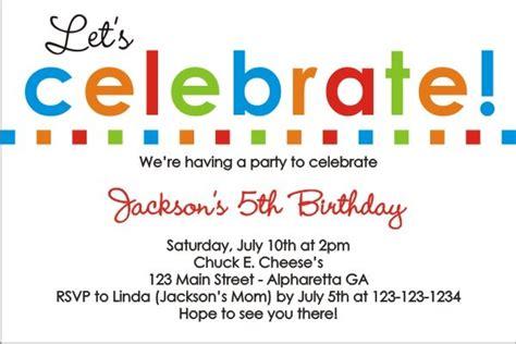 lets celebrate birthday invitation personalized party invites