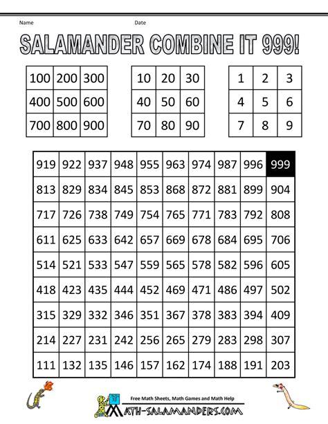 Math Games Second Grade
