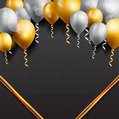 Birthday Background Celebration Balloons Balloon Vector Card