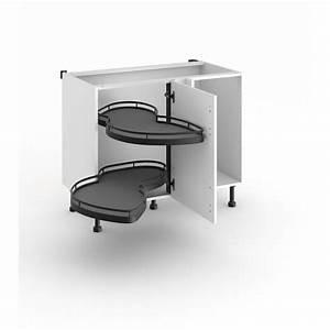 Meuble Cuisine D Angle : meuble de cuisine d 39 angle bas avec 2 plateaux lemans cuisine ~ Dailycaller-alerts.com Idées de Décoration
