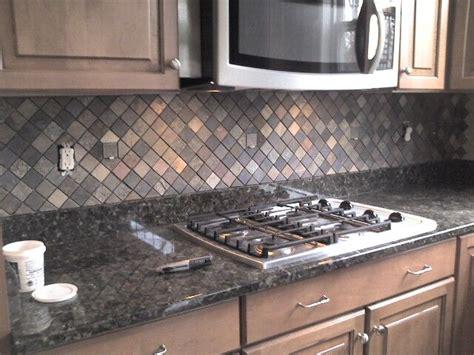 slate kitchen backsplash kitchen backsplash slate tile for the home pinterest