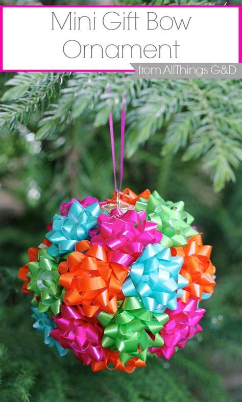 hometalk mini gift bow ornament
