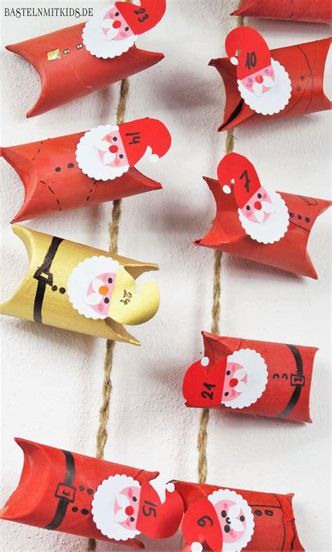 adventskalender mit sprüchen selber machen basteln mit kindern adventskalender selber basteln mit klopapierrollen