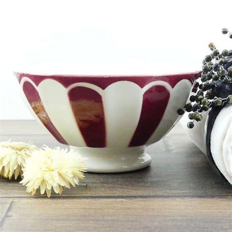 Demnächst finden sie hier eine ausführliche produktberatung zu dem artikel french coffee bowl. Bowl coffee to milk white and Burgundy - Antique french Coffee Bowl white and Red - Big Bowl ...