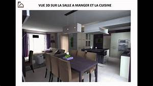 idees amenagement cuisine beau une deco salon sejour With amenagement salon sejour cuisine