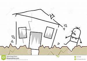 Man With House & Earthquake Stock Vector - Illustration of ...