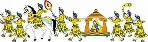 Hindu wedding card clipart in colour