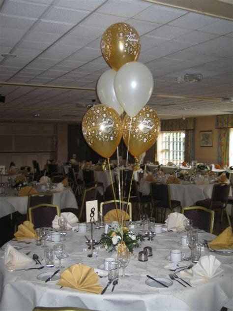 table flower arrangements  balloons centres image