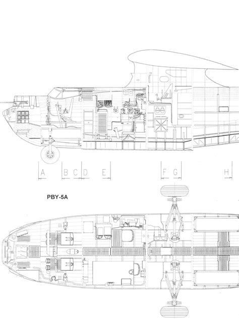 Consolidated PBY Catalina Blueprint - Download free