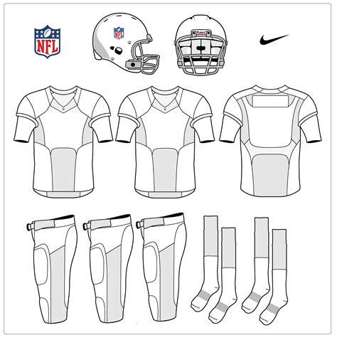 nfl football jersey template