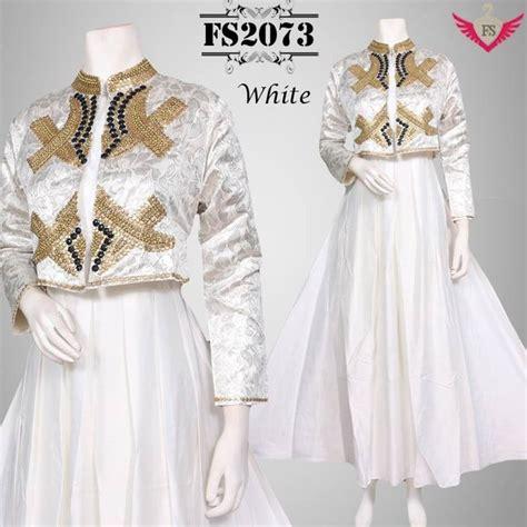 jual baju muslim model terbaru  warna putih baju