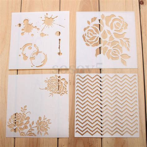 stencil templates for painting airbrush template painting stencils scrapbooking decor wall diy craft ebay