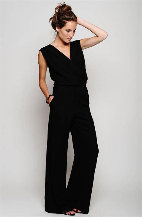 black s jumpsuit black jumpsuit appealing attire