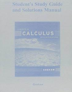 Student Study Guide And Solutions Manual For Concepts Of