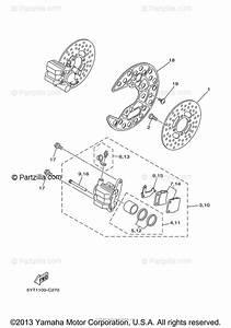 Yamaha Atv 2007 Oem Parts Diagram For Front Brake