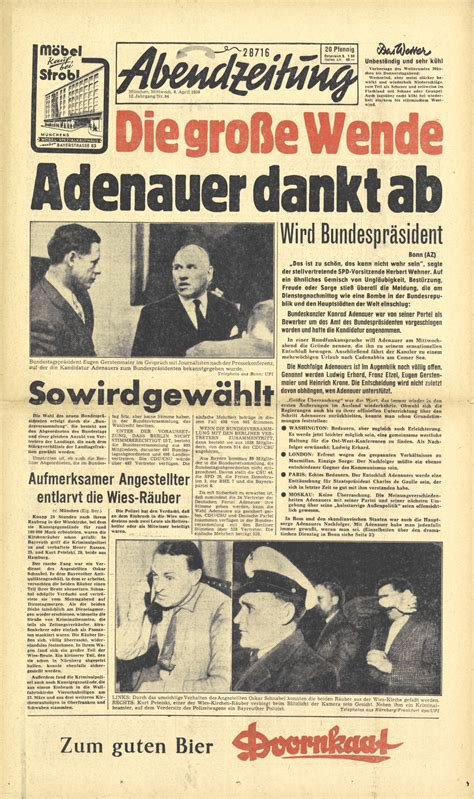 lemo objekt druckgut abendzeitung adenauer dankt ab