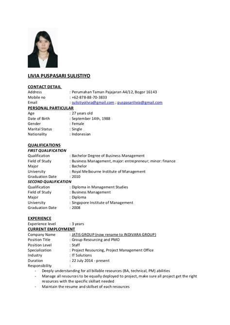 sample resume  fresh graduate malaysia