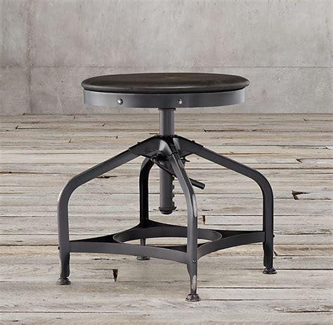 vintage toledo leather bar chair restoration hardware vintage toledo leather dining stool