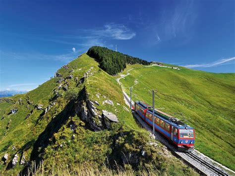 treno a cremagliera svizzera ferrovia monte generoso ticino ch