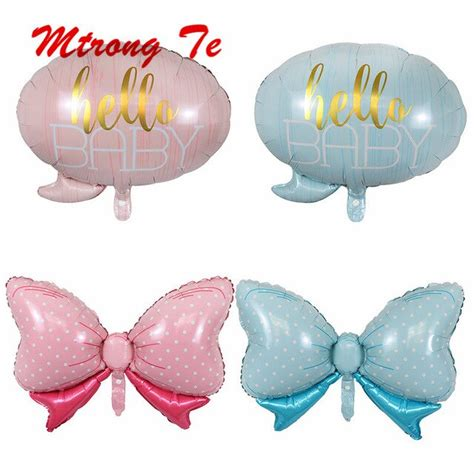 baby butterfly balloon baby shower pink blue