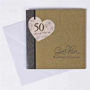 golden anniversary invitation cards pack of 10 only gbp149 With wedding invitation packs 50