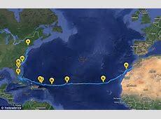 Adventurous couple row across Atlantic in record 153day