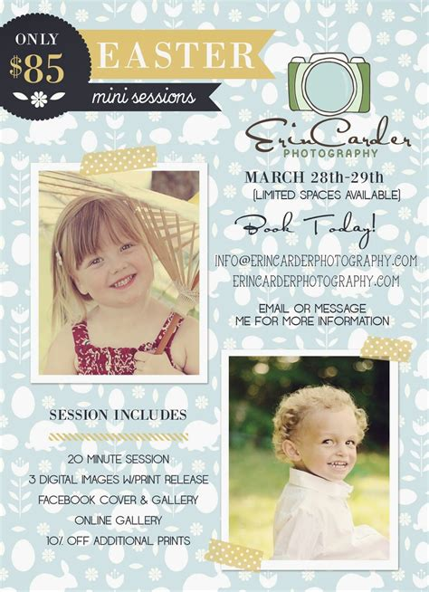 erin carder photography easter mini sessions promotions