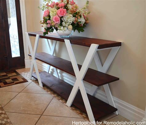 how to a console table remodelaholic diy x console table