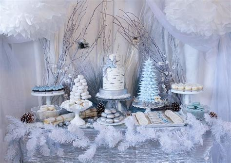 Winter Themed Baby Shower - hostess with the mostess 174 winter woodland dessert table