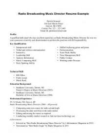 How To Write A Musical Resume For College by Skill Resume Free Musician Resume Sle Performance Resume Resume Sle