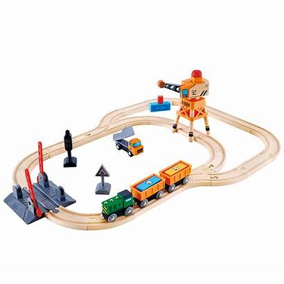 Train Toys Crane Crossing Hape Play Table