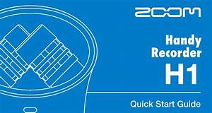 Manual  Zoom H1 Handy Recorder  U2013 Equipment Room