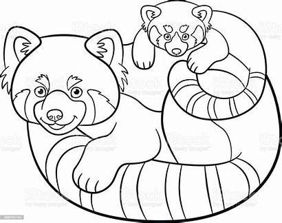 Panda Coloring Pages Mother Pandas Activity Animal